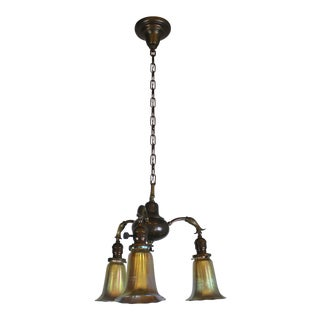 3 Light Art Nouveau Inspired Pendant