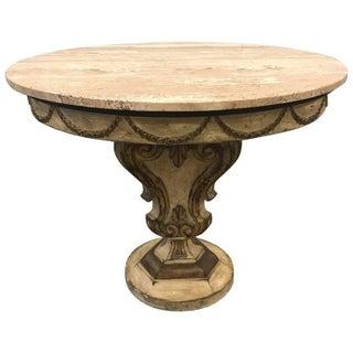 Italian Painted Travertine Top Venetian Style Centre Table