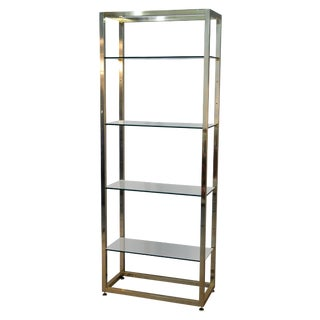 Brass And Glass Etagere