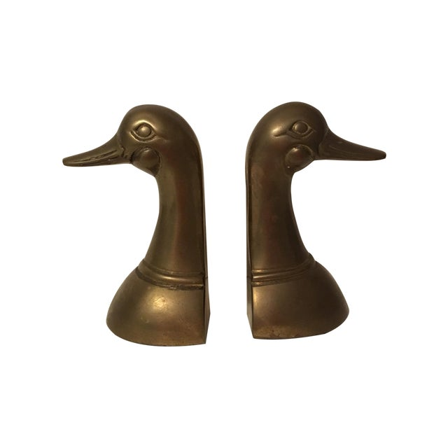 Vintage Brass Mallard Bookends - A Pair - Image 1 of 6