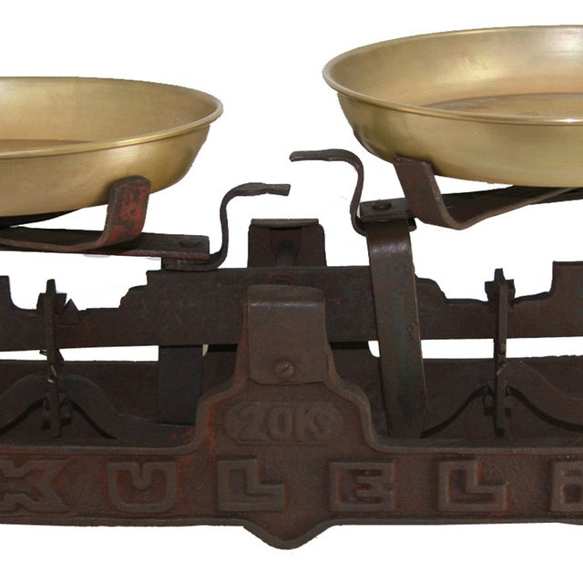 Image of Vintage Large Iron Table Scale