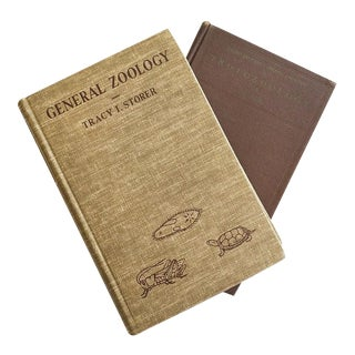 1943 and 1947 Zoology Illustrated Textbooks - Pair