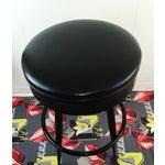 Image of Industrial Black Vinyl Swivel Stool