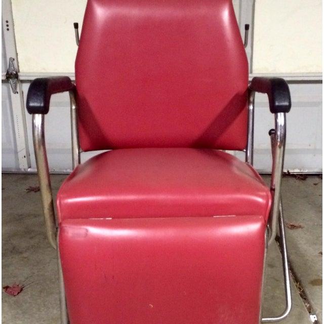 Vintage Reclining Salon Shampoo Chair - Image 3 of 7