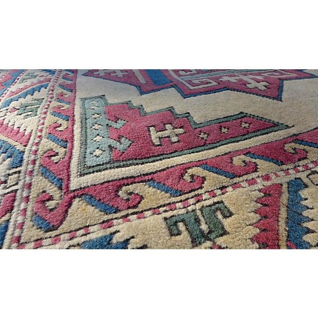 Turkish Hand-Knotted Wool Rug - 6′5″ × 4′3″ - Image 4 of 6