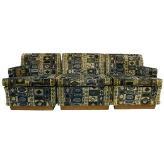 3 Piece Edward Wormley Dunbar Sectional Sofa Jack L. Larsen Fabric