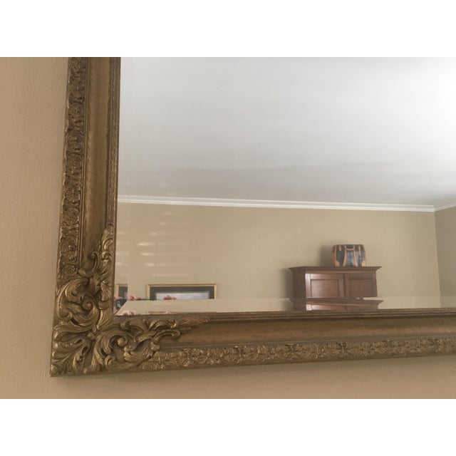 Image of Antique Gold Giltwood Beveled Mirror