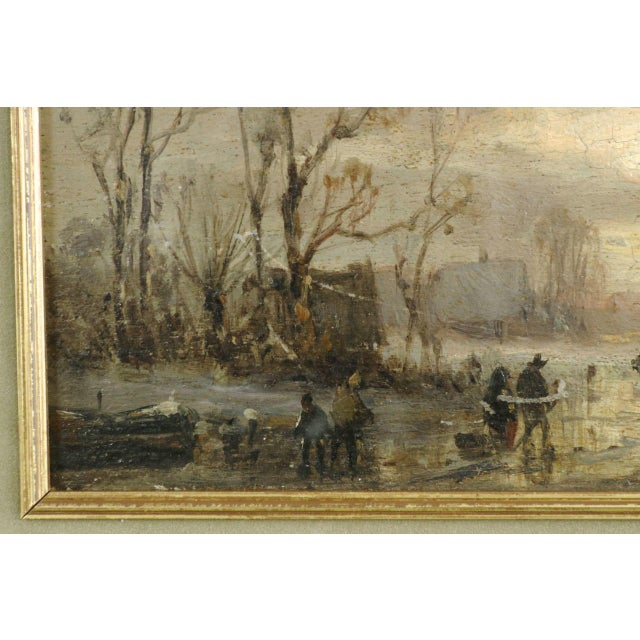 Impressionist adolf stademann figures skating on a lake for In their paintings the impressionists often focused on