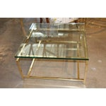 Image of Vintage Italian Brass Cocktail Table