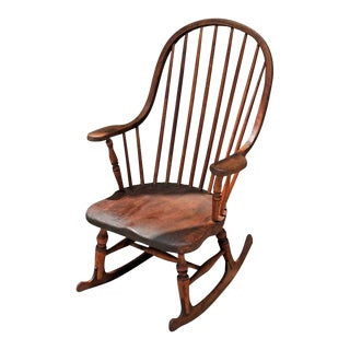 Early 19th Century New England Windsor Rocking Chair