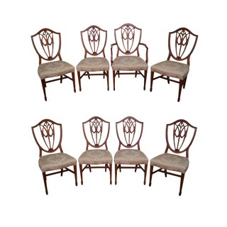 Hepplewhite Shield Back Dining Chairs - Set of 8