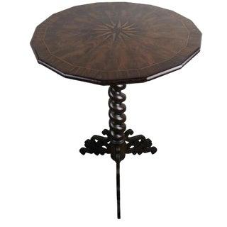 19th Century English Inlaid Tilt-Top Table