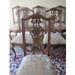 Image of Vintage Walnut Dining Chairs - Set of 6