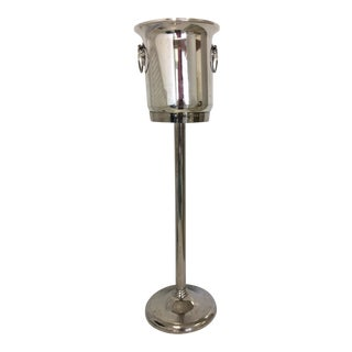 Silverplate Champagne Bucket With Stand