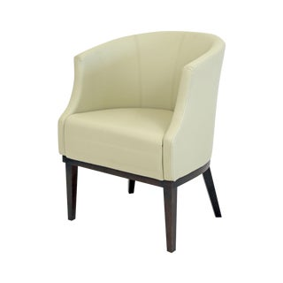 Brazilian Modern Cream Leather Mannes Club Chair