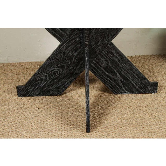Martin & Brockett Circle Entry Table With X Base - Image 3 of 7