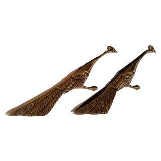 Mid-Century Brass Peacocks - A Pair