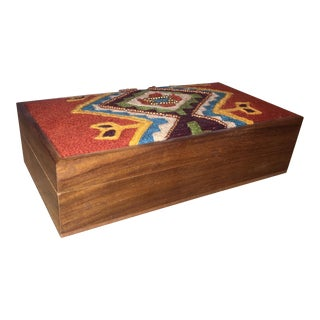 Boho Chic Embroidered & Beaded Box