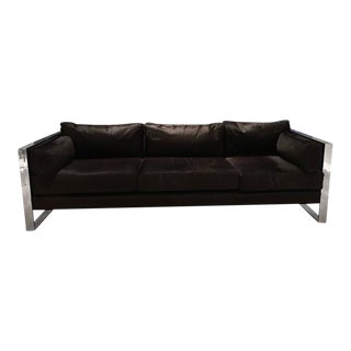 Milo Baughman Chrome Sofa