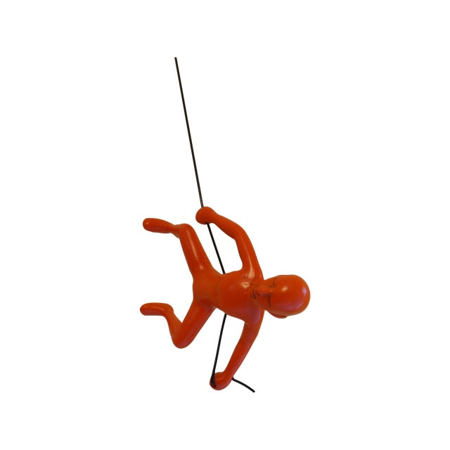 Orange Exclusive Position Climbing Man Wall Art - Image 1 of 4