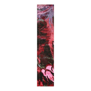 Hand Knotted Modern Floral Runner - 3' X 16'