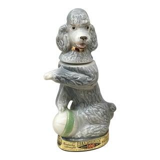 Ceramic Poodle Figurative Liquor Bottle