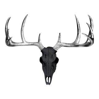 Silver Antlers Large Deer Skull by Wall Charmers Animal Sculpture