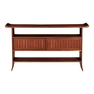 """""""Kusaka"""" Sculpted Walnut Sideboard Console Table by John Reed Fox"""
