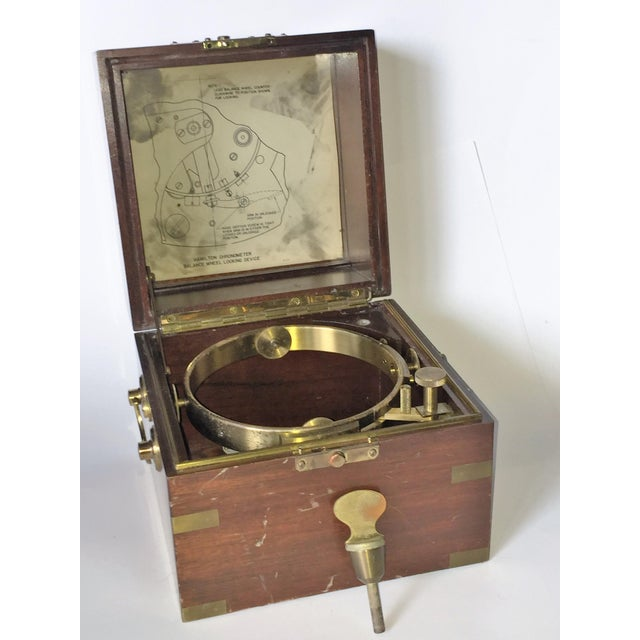 Vintage Marine Hamilton Chronometer Case - Image 9 of 9