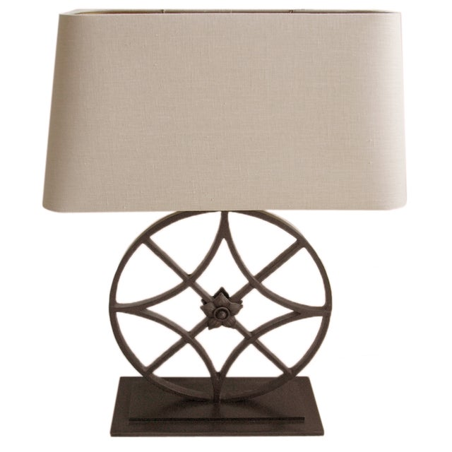 Restoration Hardware Iron Table Lamp