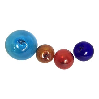 Blown Glass Fishing Floats - Set of 4