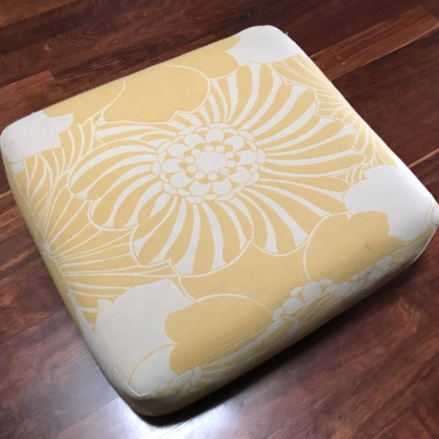 Yellow Floral Floor Cushion - Image 2 of 6