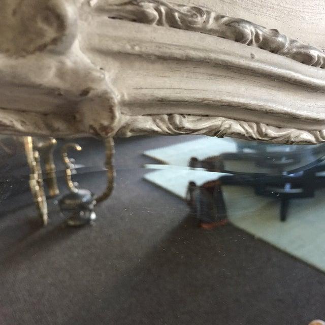 Grey Relief Beveled Floor Mirror - Image 7 of 7