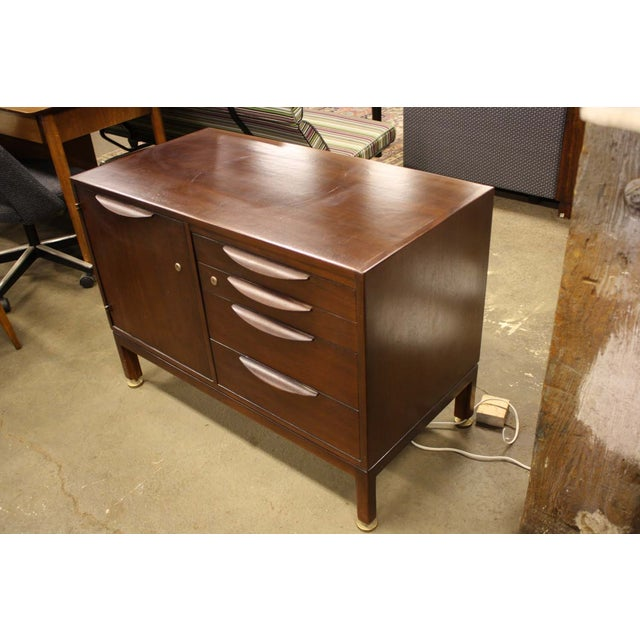 Jens Risom Cherry Wood Credenza - Image 4 of 6