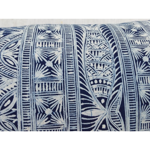 Hmong Indigo Batik Lumbar Pillow - Image 4 of 7