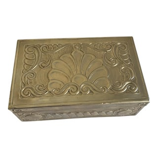 Vintage Tooled Silver Wood Box