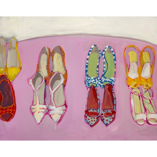 Megan Coonelly Omg Shoes Acrylic Painting - Image 2 of 3