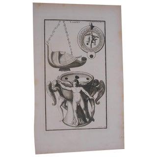 Antique Oil Lamps Engraving