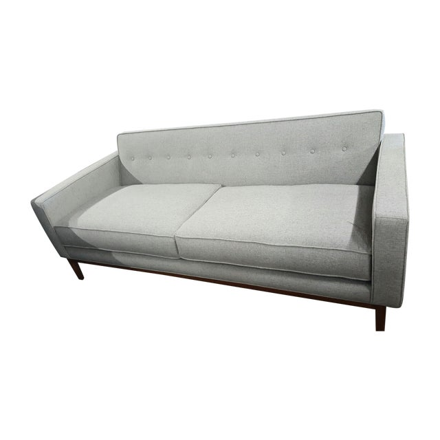 Brand New Mid Century-Inspired Custom Gray Sofa - Image 1 of 5