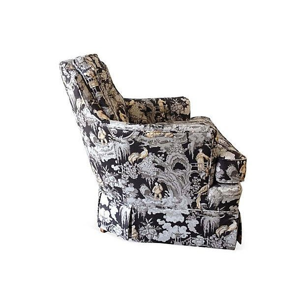 Toile Club Chair - Image 2 of 6