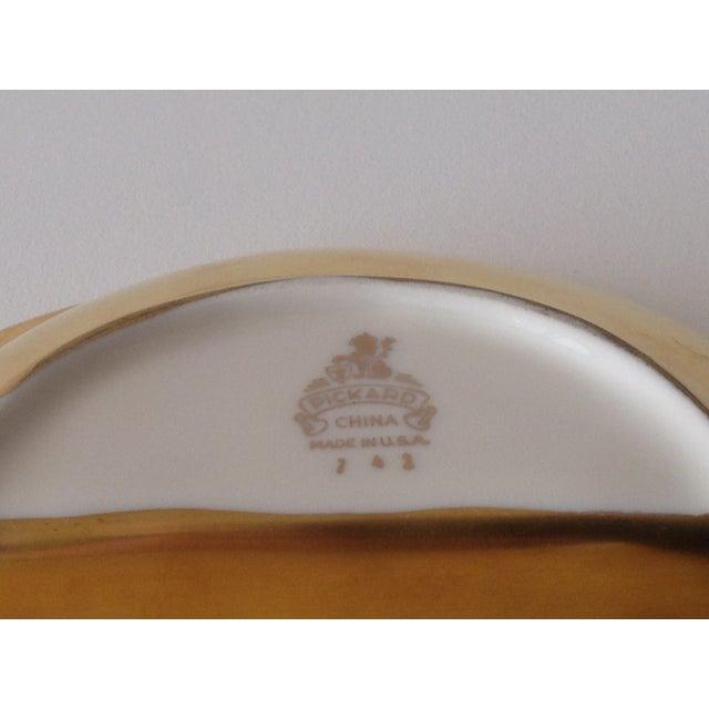 Pickard 24k Gold Divided Floral Motif Dish - Image 10 of 11