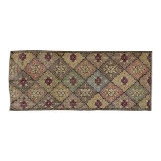 Zeki Muren Distressed Vintage Turkish Sivas Rug - 2′10″ × 6′9″