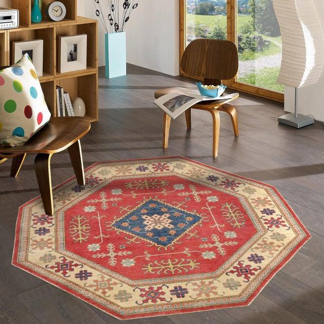 Pasargad kazak wool round rug quot  chairish