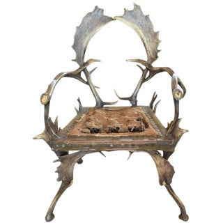 Antler Chair from a Bavarian Hunting Lodge