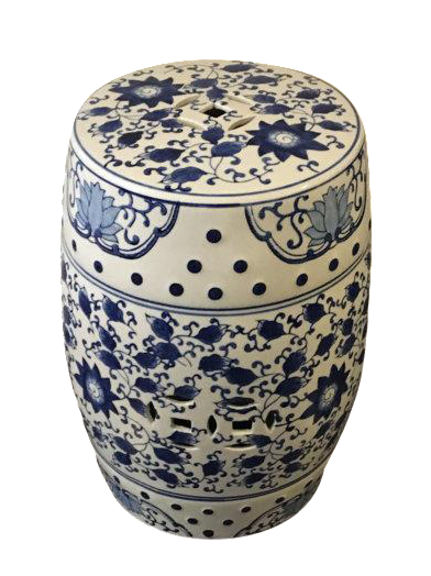 Blue And White Asian Garden Stool Chairish