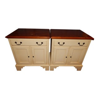 Ethan Allen Country Crossings Nightstands - A Pair