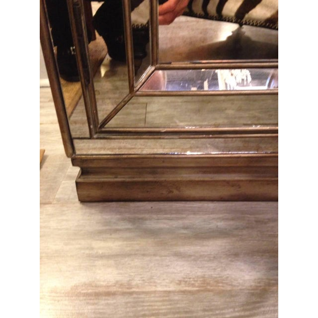 Image of Antiqued Mirrored Cabinets - A Pair