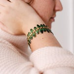 Image of Matisse Green Enameled Copper Bracelet