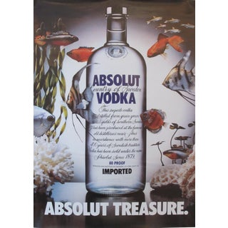 1985 Absolut Vodka Advertisement, Absolut Treasure (Fish)