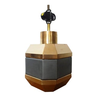 Chapman Modern Faceted Brass Table Lamp